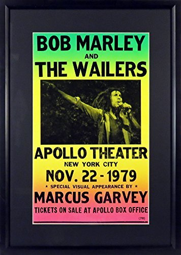 Bob Marley at The Apollo Concert Poster (Framed)