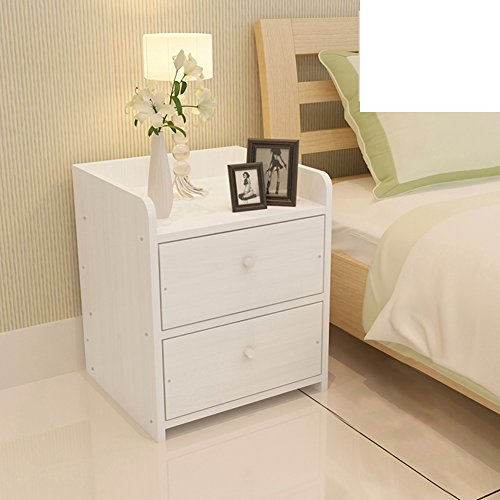 Simple bedside cabinet with assembled wood grain lockers mini bedroom sideboard modern nightstand-E by FJIWDTGYHFGT