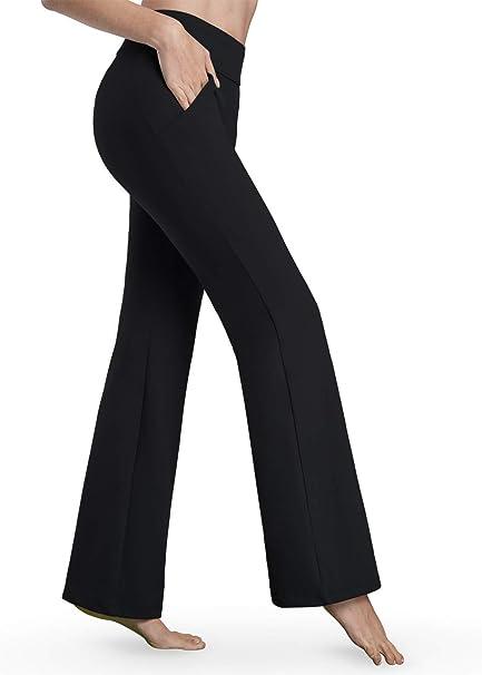 Amazon.com: Bamans pantalones de yoga para mujer Bootcut ...