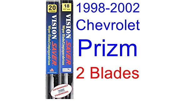 Amazon.com: 1998-2002 Chevrolet Prizm Replacement Wiper Blade Set/Kit (Set of 2 Blades) (Saver Automotive Products-Vision Saver) (1999,2000,2001): ...