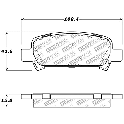 StopTech 309.07700 Street Performance Rear Brake Pad: Automotive