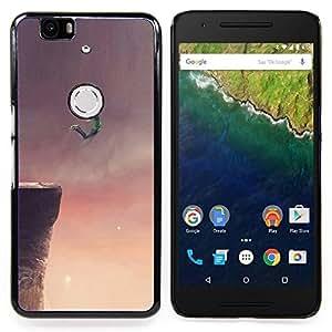 """Qstar Arte & diseño plástico duro Fundas Cover Cubre Hard Case Cover para Huawei Google Nexus 6P (Volar Sueño acantilado Salto Base Arte Dibujo"""")"""