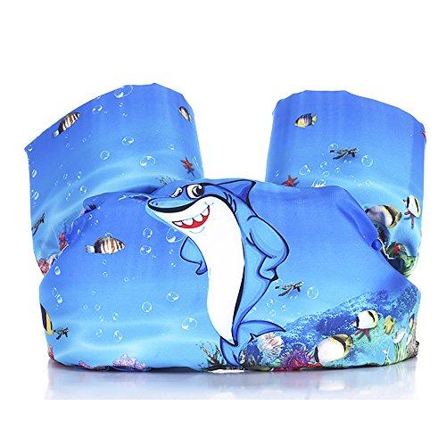 Techcity Toddler Life Jacket Kids Learn to Swim Safty Aid Baby Arm Floaties Kids Life Vest 30-55 lbs (Little Shark) by Techcity