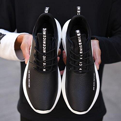 Men's Shoes Feifei Winter Movement Fashion Thick Bottom Tide Shoes 3 Colors(Size Multiple Choice) (Color : 01, Size : EU42/UK8.5/CN43)