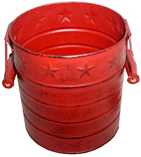Craft Outlet Tin Pail, 6 by 7-Inch, Barn (Red Tin Pails)
