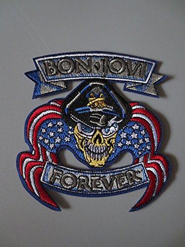 Rock Band Bon Jovi Embroidered Embroidery Needlework Sewing Patch Patchwork Patches for Jacket Back Vest Club Biker 9.5cmx10cm (Bon Jovi Patch)