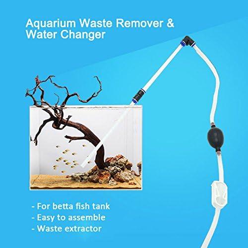 NICREW Limpiador de Grava de Pecera Cambiador de Agua, Herramientas de Limpieza del Filtro de Agua Acuario Sifón Pecera Bomba de Vacío Sifón: Amazon.es: Productos para mascotas