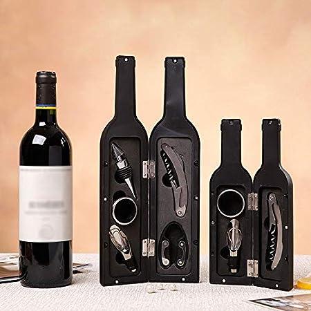 JYDQM 1 Set 3pcs / 5pcs Botella de Vino Conjunto de sacacorchos de Corcho de Herramientas con Forma de Botella con Forma de Botella Regalo de abridor de Botellas y Venta Libre (Color : Red 5pcs)