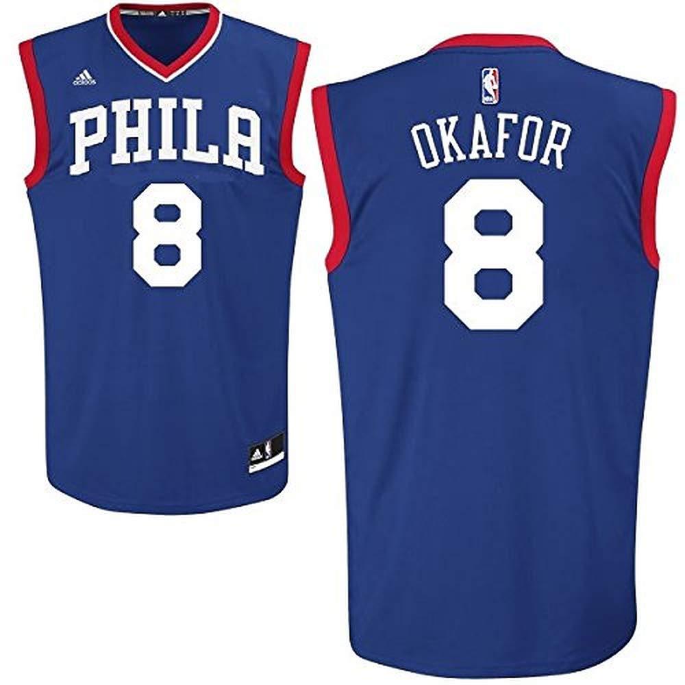 huge discount 1d1b1 16e4b Jahlil Okafor Philadelphia 76ers #8 NBA Youth Road Jersey Blue