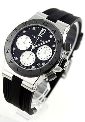 BVLGARI Diagono Black Dial automatic winding diamond 100M waterproof DG37BSBCVDCH/8 Ladies watch