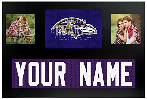 Baltimore Ravens NFL Custom Jersey Nameplate and Logo Picture (Baltimore Ravens Picture Frame)