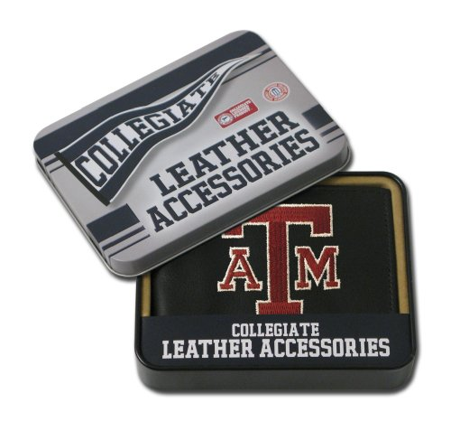 NCAA Texas A&M Aggies Embroidered Leather Billfold Wallet