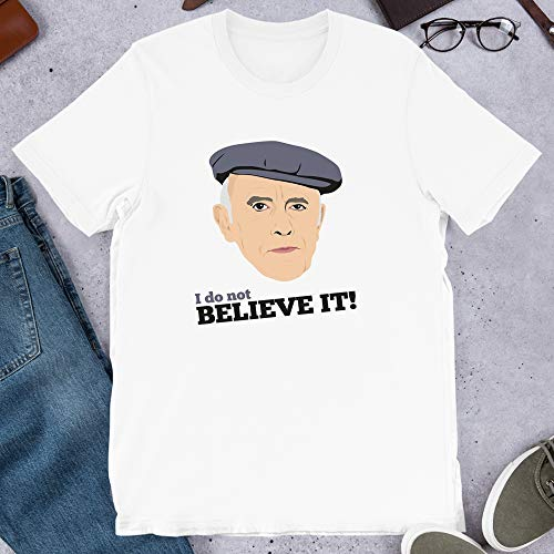 Victor Meldrew I do not Believe it One Foot in The Grave Richard Wilson Graphic Gift for Men Women Girls Unisex T-Shirt (White-XL) (One Foot In The Grave Victor Meldrew)
