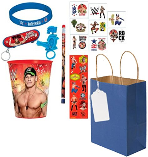 WWE World Wrestling Entertainment 8pc Ultimate Party Favor Gift Bag! Pre-Filled, Pre-Wrapped & Ready For Giving! by WWE