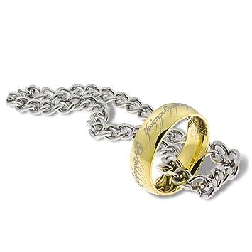 El Señor de los Anillos: El anillo único con cadena - Acero ...