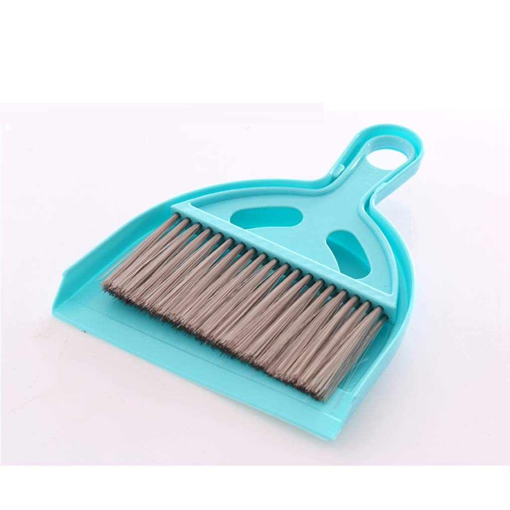 Lsxlsd Mini Whisk Broom And Dustpan Set,Compute Brush Keyboard Desktop Cleaning Small Broom,Great For Cleaning Compact Spaces - Cars, Offices, Bathrooms, Kitchen Counters, Drawers, And More! (blue) by Lsxlsd (Image #1)