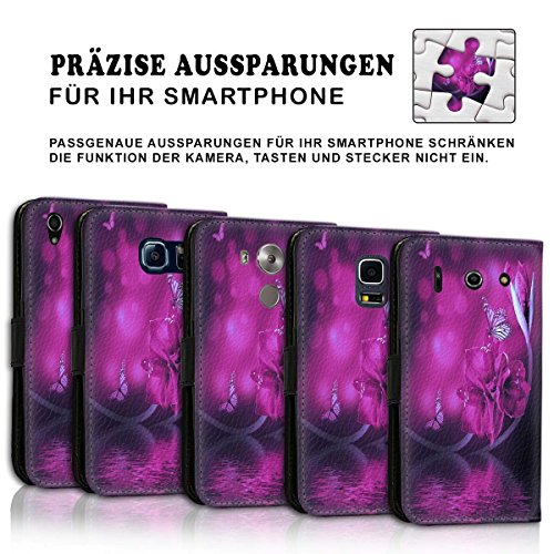 Wallet Book Style Flip Handy Tasche Case Schutz Hülle Schale Motiv Etui für Apple iPhone 6 / 6S - Design Flip MVD447