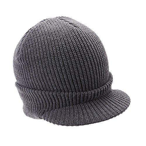 64ef2573d8770 iYBUIA Men Women Baggy Warm Crochet Winter Wool Knit Ski Beanie Skull  Slouchy Caps Hat(Black