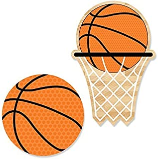 product image for Big Dot of Happiness Nothin' but Net - Basketball DIY Shaped Party Cut-Outs - 24 Count