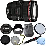 Canon EF 24-105mm f/4L IS USM Lens (White Box) + GID Accessories Bundle. For 5D III, 6D, 5D II, 1Dx and other Full Frame DSLR and 7D, 70D, 60D, T5i and other 1.3x digital cameras, and Canon Film Cameras.