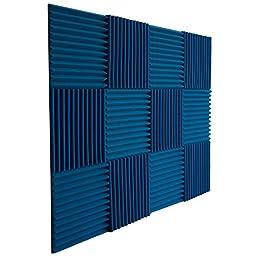12 Pack- Ice Blue Acoustic Panels Studio Foam Wedges 1\