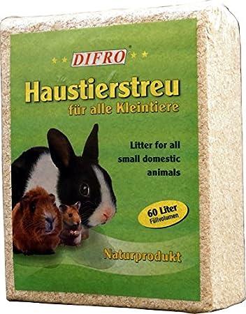 Kleintierstreu 60 Liter Einstreu Holzspäne Kleintier Streu Nager Kaninchen Käfigstreu