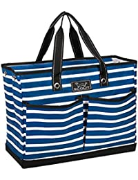 BJ BAG, Large Utility Tote Bag with 4 Exterior Pockets and Max-Capacity Zipper (Multiple Patterns Available)