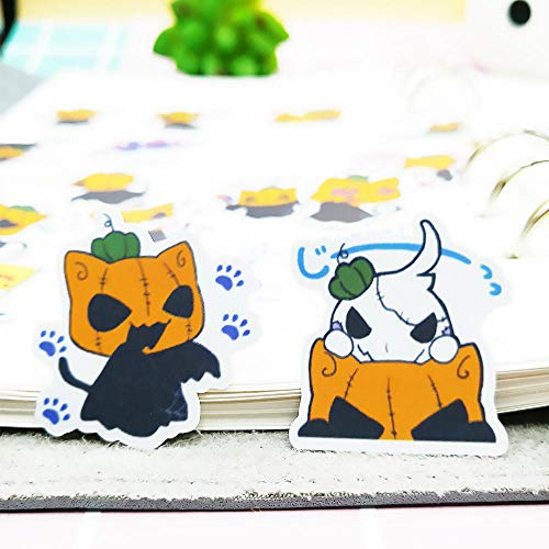 WANSHENGTIE Halloween Sticker 20/40pcs Self-Adhesive Horror Halloween Devil DIY Craft Stickers Clip Art Album Decoration Diary Random Not Repeat,40PCS -