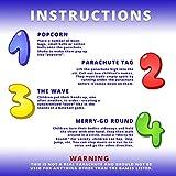 Tunco 20ft Parachute for Kids - Kids Parachute Toy