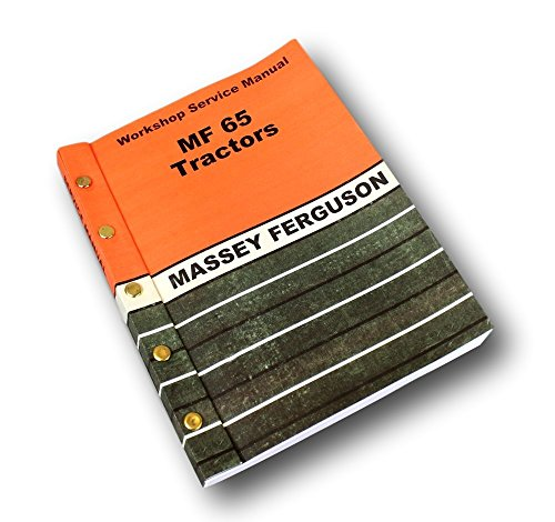 Massey Ferguson Mf 65 Tractor Service Manual Technical Repair Shop Workshop from Peaceful Creek Supply