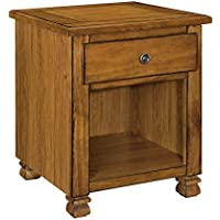 Ameriwood Home 3608096COM San Antonio Veneer Wood End Table, Tuscany Oak