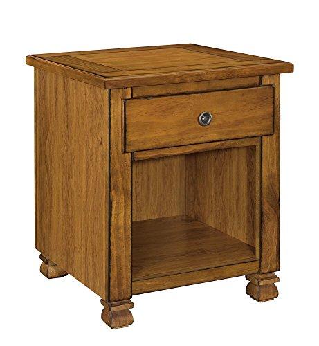 Ameriwood Home 3608096COM San Antonio Veneer Wood End Table, Tuscany Oak