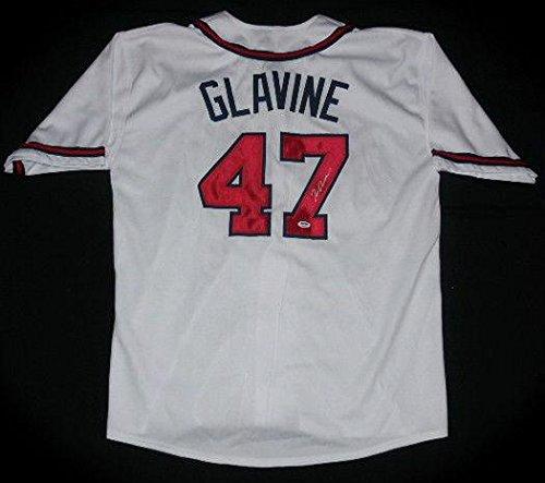 (Tom Glavine Autographed Jersey (braves) W/Proof - ! - PSA/DNA Certified - Autographed MLB Jerseys)