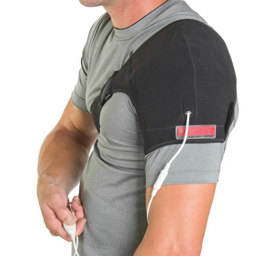 Venture Heated Clothing KB-1240 REG Black Regular Heated Shoulder Therapy Wrap with Temperature Controller and 12V - Venture Heated Therapy