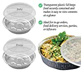 55 Pack - 7 Inch Round Aluminum Pans, with Clear