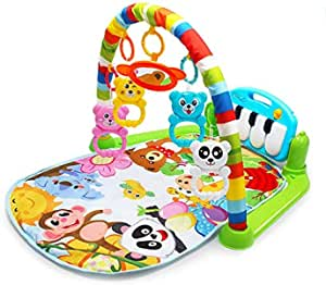 Kaichen Kick and Play Piano Gym, Baby Play Mat Newborn Toy, Lay, Sit and Play, Activity Toys, Game Crawling Mat Activity Fitness Music for Baby (Green)