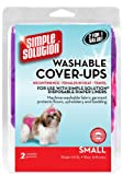 Simple Solution Washable Diaper Cover-Ups, Small, 'Colors May Vary', Pink/Purple or Blue/Black, 2 Pack