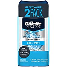 Gillette Anti-Perspirant Deodorant Clear Gel, Cool Wave 3.8 oz (Pack of 2)