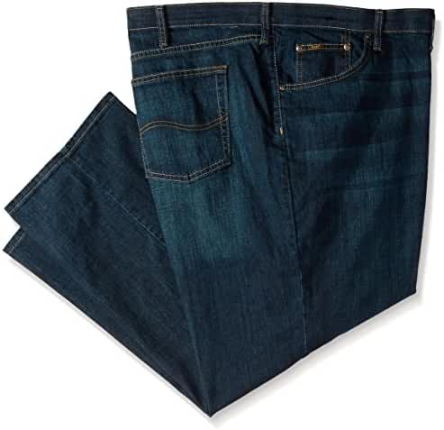 Lee Men's Big & Tall Premium Select Custom-Fit Relaxed Straight-Leg Jean