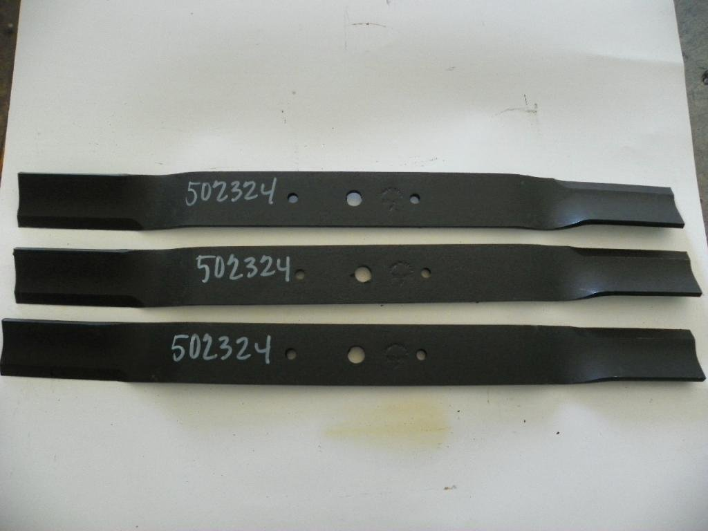 "King Kutter 72"" Finish Mower Blades Set of 3, Code 502324"