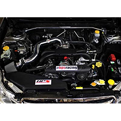 HPS Performance 827-557P Polish Cold Air Intake Kit with Heat Shield Cool Ram, 1 Pack: Automotive