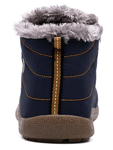 Stivali Invernali Da Uomo Caldi Stivali Da Neve Impermeabili Scarpe Da Ginnastica Alla Caviglia Foderate Di Santimon Blue