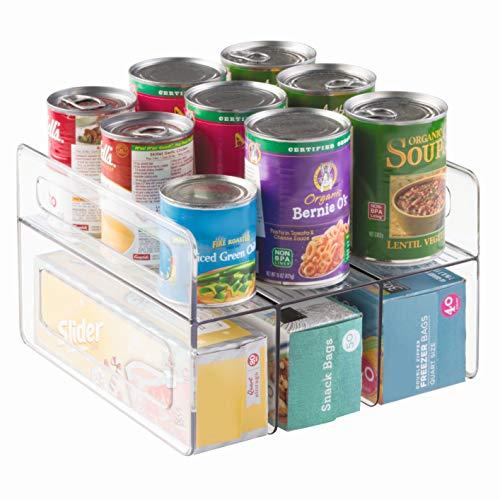 InterDesign Kitchen Cabinet Storage Organizer for Aluminum Foil, Sandwich Bags, Plastic Wrap - Clear