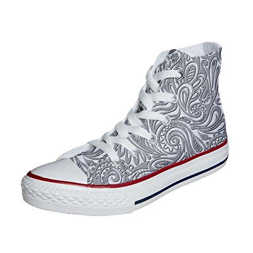 Converse All Star Hi Canvas, scarpe Personalizzate (prodotto artigianali) Light Paisley