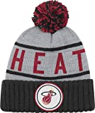 Mitchell & Ness Men's Miami Heat High 5 Beanie One Size Grey
