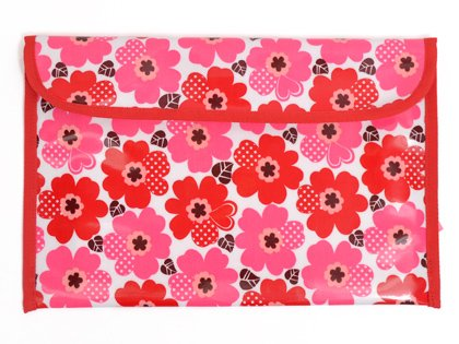 Organisiert Kontakt-Smart-Tasche Nordic Blume Rot Made in Japan N4025600 (Japan-Import)