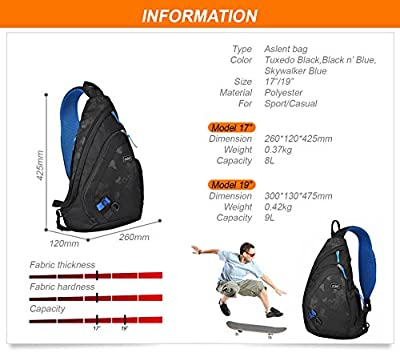 NEW! Mixi Sling Chest Bag Shoulder Backpack Crossbody Bag for Cycling Hiking Camping Sport Travel