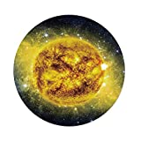 iPrint Polyester Round Tablecloth,Galaxy,Panorama Sun in Space Luminous Effects Dynamic Center Solar System Print,Yellow Blue,Dining Room Kitchen Picnic Table Cloth Cover Outdoor Indoor