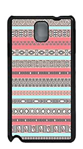 TUTU158600 Plastic Phone Case Back Cover case for samsung galaxy note4 for girls - Aztec green and gray stripes