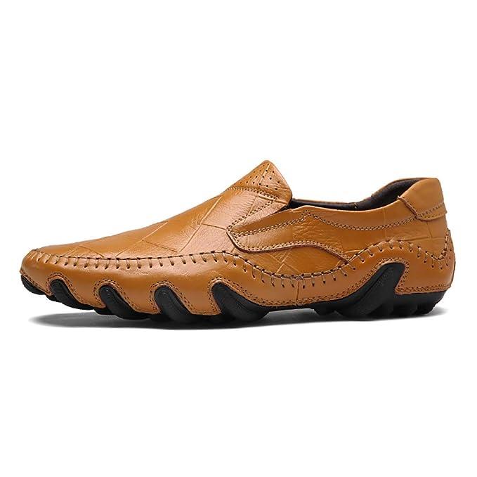 FHTD Zapatos De Hombre Cuero Primavera Otoño Mocasin De Moda Mocasines Y Slip-ONS Volantes De Oficina: Amazon.es: Ropa y accesorios